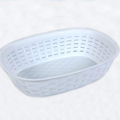 Koszyk na chleb rattan biały